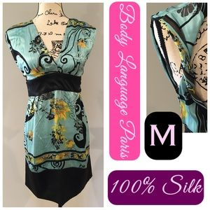 🌿100% Silk Beautiful Twisted Strap Dress